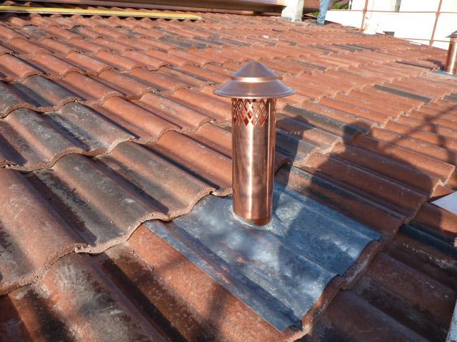 Realizzazione tetto tradizionale, camino